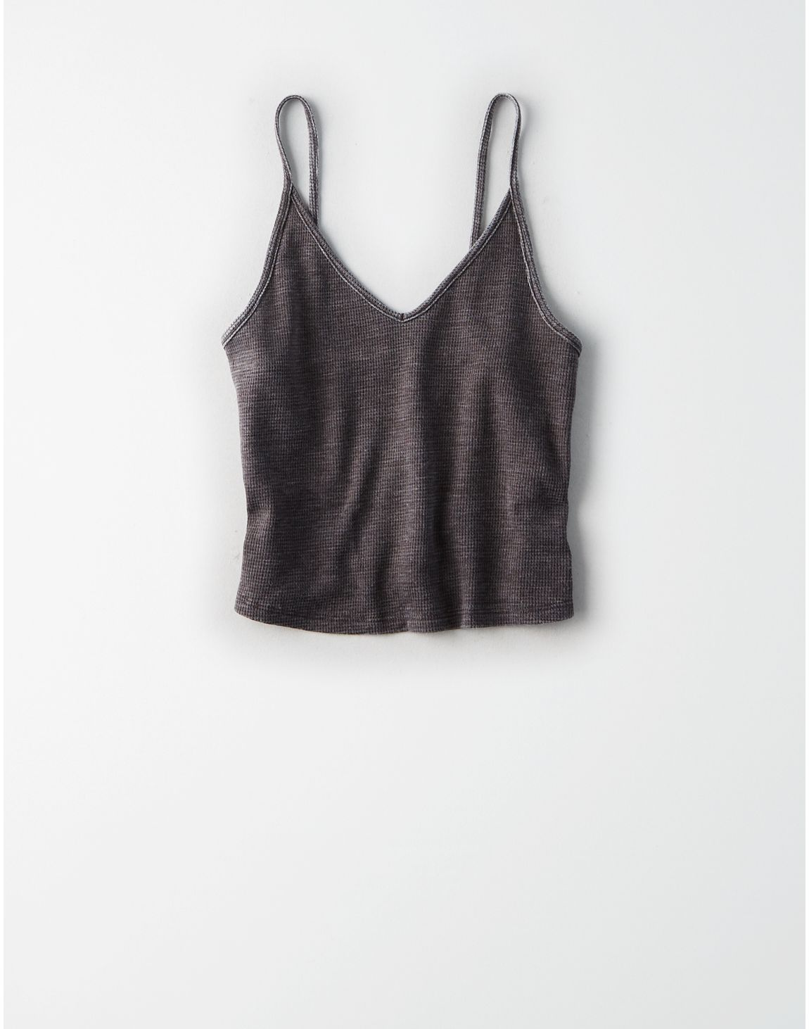 96598f981fe American Eagle | AE Cropped Tank Top in Gray | American Eagle Style Drop