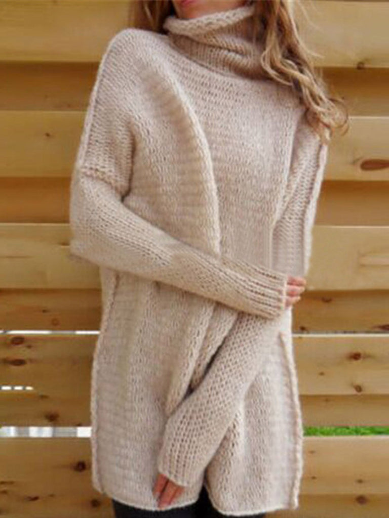 a888bbb8a5 Women s Long Sleeve Comfy Loose Fit Turtle Cowl Neck Knitted Sweater