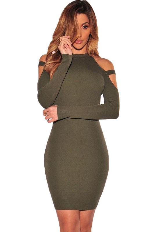 Stylish Off Shoulder Thickening Bodycon Dress