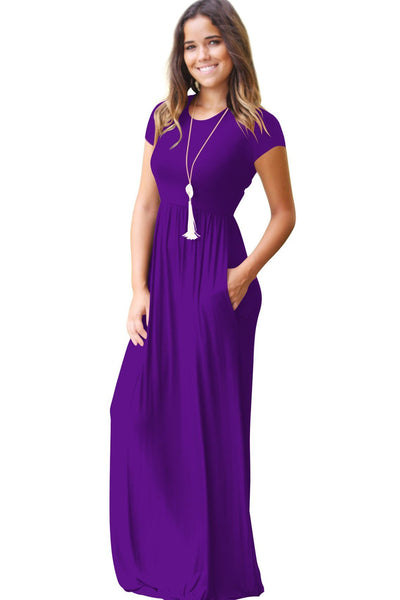 Chic Candy Color Maxi Dress