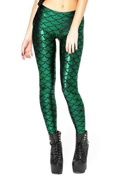 Fish Scale High-Waisted Slimming Leggings