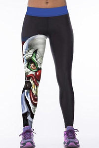 Cartoon Printed Hit Color Bodycon Sport Pants
