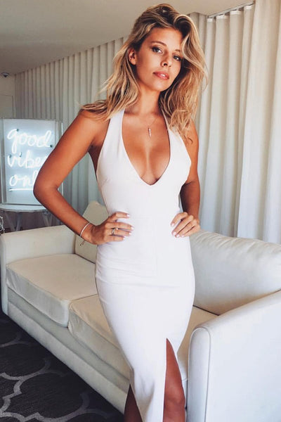 Sexy Halter Slit Party Dress