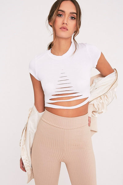 Chic Ripped Hollow Crop Top