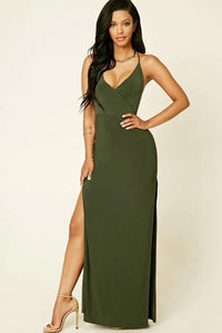 Sexy Criss-Cross Side-Slit Party Dress