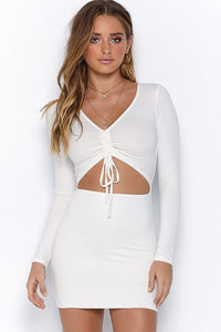 Sexy Hollow Pleated Club Dress