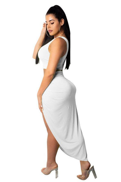 Sexy Asymmetric Off Shoulder 2-Piece Dress Set
