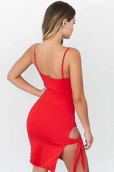 Sexy Side-Tie Straps Club Dress