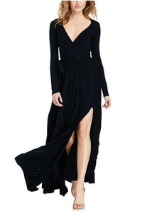 Stylish V-Neck Long Sleeve Party Dress