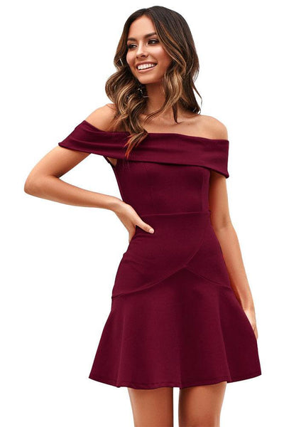 Chic Candy Color Day Dress