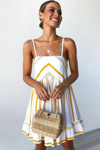 Chic Spaghetti Strap Day Dress