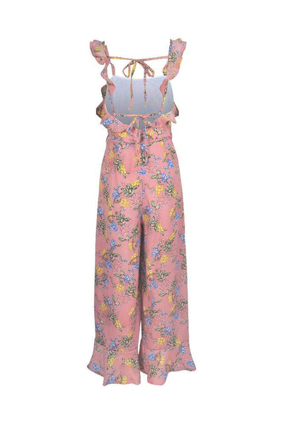 Stylish Floral Ruffles Jumpsuit