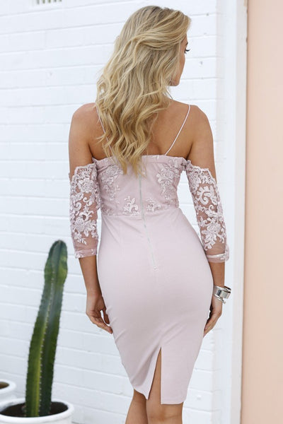 Sexy Lace Off-Shoulder Party Dress