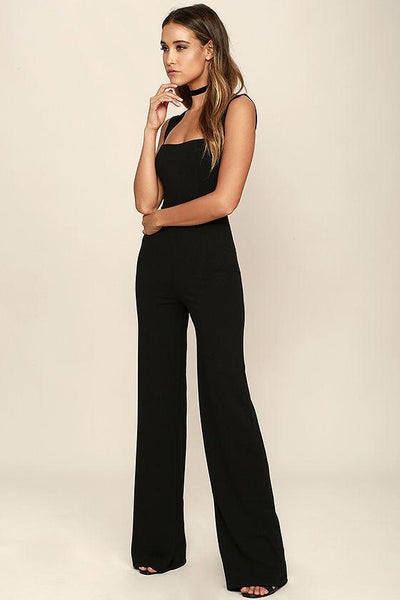 Vintage Wide-Leg Sleeveless Jumpsuit
