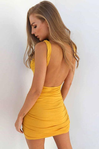 Sexy Slim Backless Club Dress