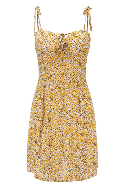 Chic Floral Slim Day Dress