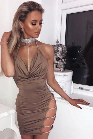 Sexy Glamour Deep-V Club Dress