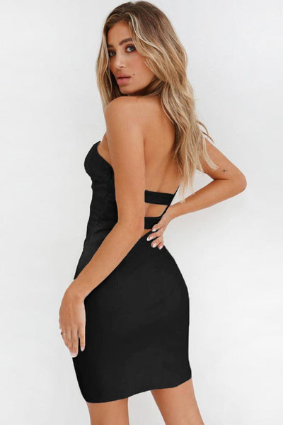 Vogue Strapless Cut-Out Party Dress