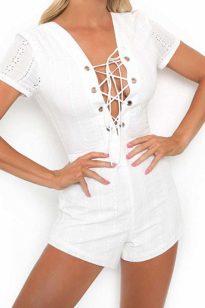 Sexy Tie-Front Skinny Romper