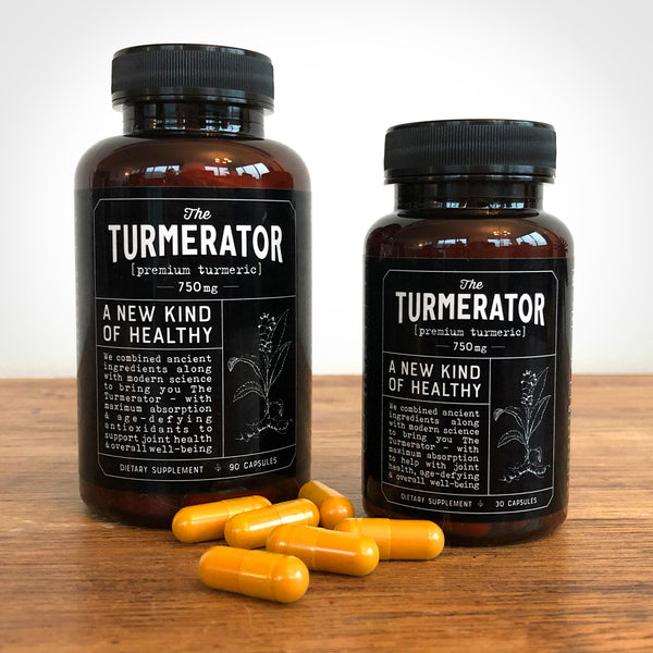 Photo of 30- and 90- day Turmerator bottles