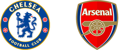 Chelsea and Arsenal football club logos