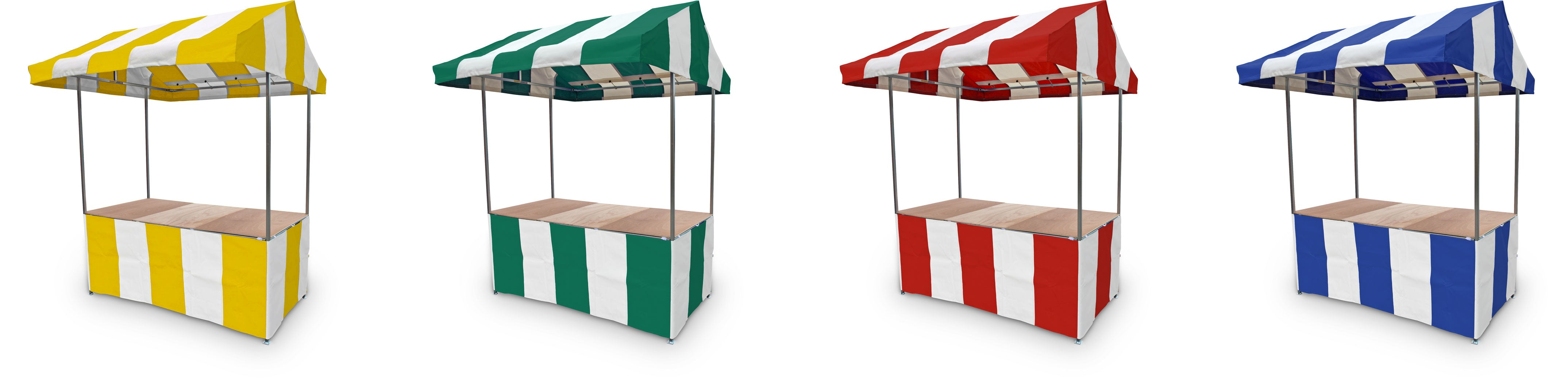 Market Stall Canopy and Counter Wrap Colour