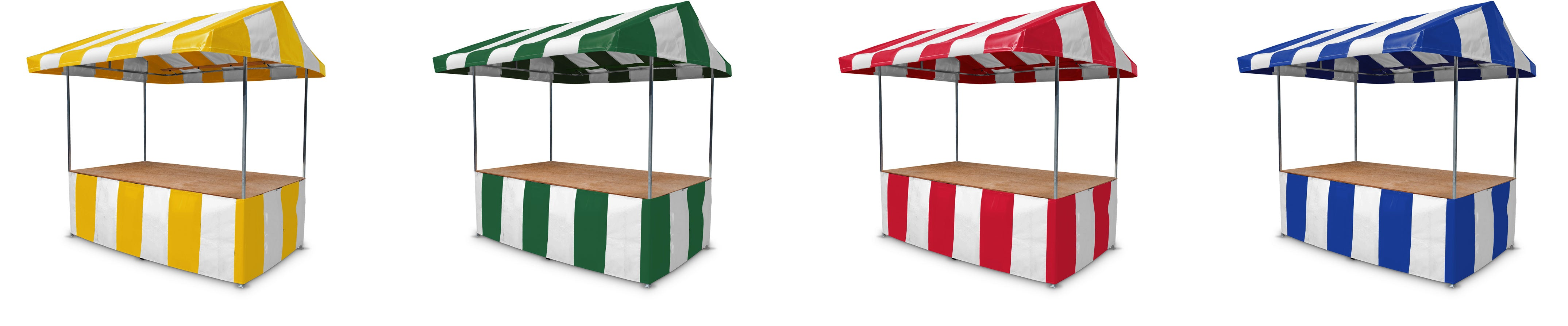 Market Stall Roof Canopy and Counter Wraps Colour Options