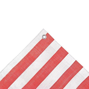 Striped Market Stall Tarpaulin Heavy Duty 170gsm