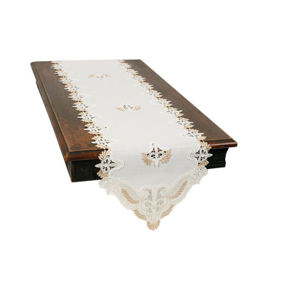 XD18214 Anais Elegant Lace Embroidered Cutwork Table Runner