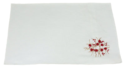 ML10103A Holiday Berry Wreath Placemat, 14''x20''