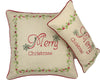 ML10219 Merry Christmas with Holly Pillow