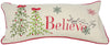 ML10220 Believe with Christmas Tree Pillow