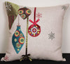 ML12001 Noel Ornaments Holiday Pillow