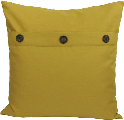"ML13004 Solid Color with Buttons Pillow, 20""x20"""
