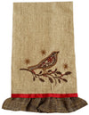 ML14869 Bird On Twig Tea Towel, 16''x22''