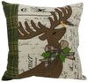 ML14898 Reindeer With Applique Suede Pillow, 14''x14''