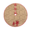 ML14900 Saint Nick Burlap Tree Skirt 56''Round