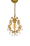 ML15907Hanging Garden Chandelier w/ Crystals