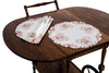 "ML16131 Blush Round Placemats, 16"", Set of 4"