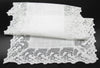 ML16148 Garden Trellece Lace Trim Table Runner