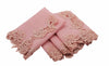 "ML16149 English Rose Lace Trim Napkins, 20""x20"", Set of 4"