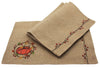 ML16351 Rustic Pumpkin Wreath Placemats, Set of 4