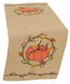ML16351 Rustic Pumpkin Wreath Table Runner