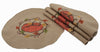 ML16351 Rustic Pumpkin Wreath Round Placemats, Set of 4