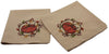ML16351 Rustic Pumpkin Wreath Napkins, Set of 4