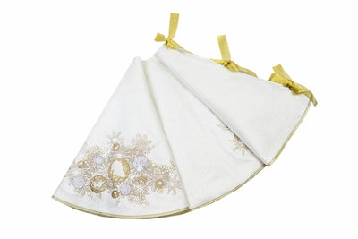 "ML17120 Christmas Ornaments Tree Skirt,56""Rnd"