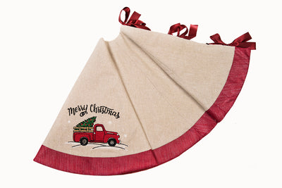 ML17131-Christmas Truck Tree Skirt 56''