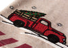 ML17131-Christmas Truck Teal Towel 17''x27''