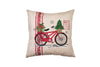 "ML17132 Noel Bike Pillow,18""x18"""