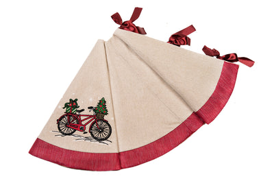 "ML17132 Noel Bike Tree Skirt, 56""Rnd"